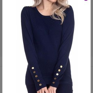 NWT Cielo Sweater with Button Accents
